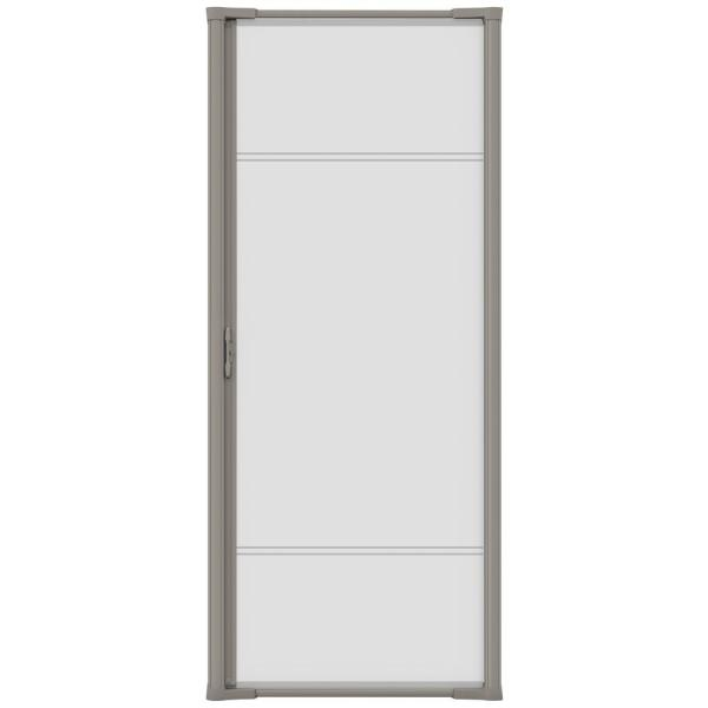 36 in. x 81 in. Brisa Sandstone Standard Retractable Screen Door