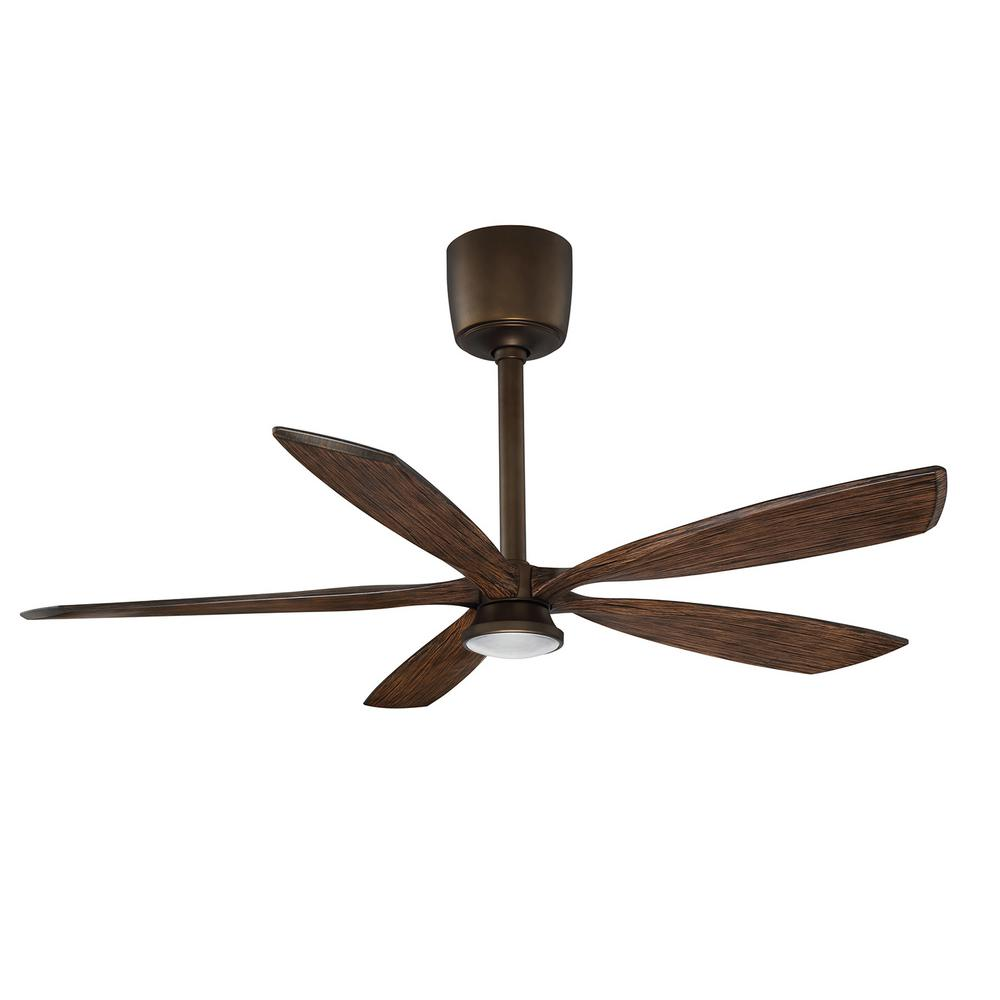 Phantom 54 in. LED Architectural Bronze and Dark Maple Ceiling Fan