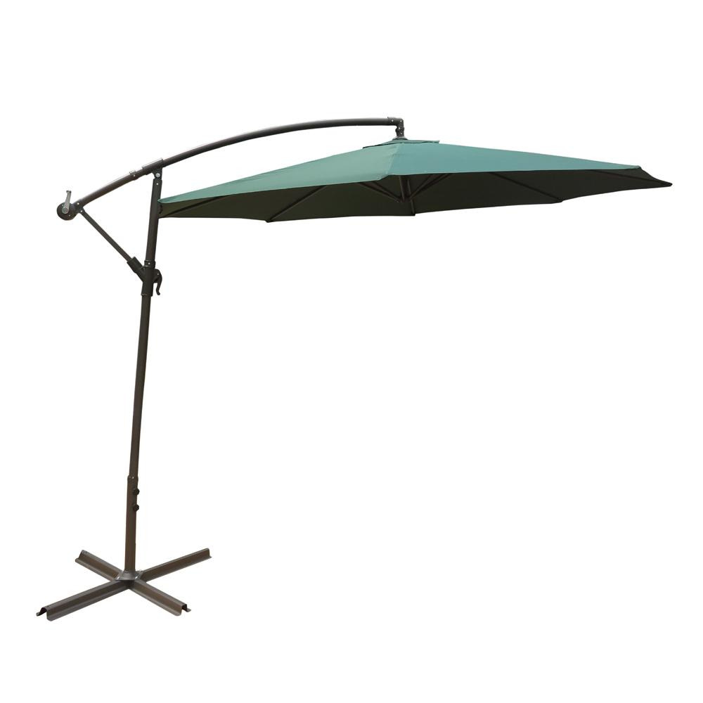 10 ft. Steel Cantilever Patio Umbrella in Green