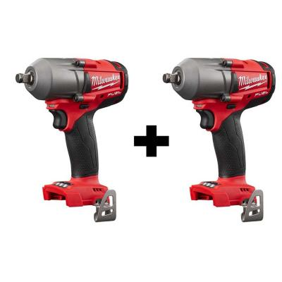 M18 FUEL 18-Volt Lithium-Ion Brushless Cordless Mid Torque 1/2 in. Impact Wrench with Friction Ring (2-Tool)