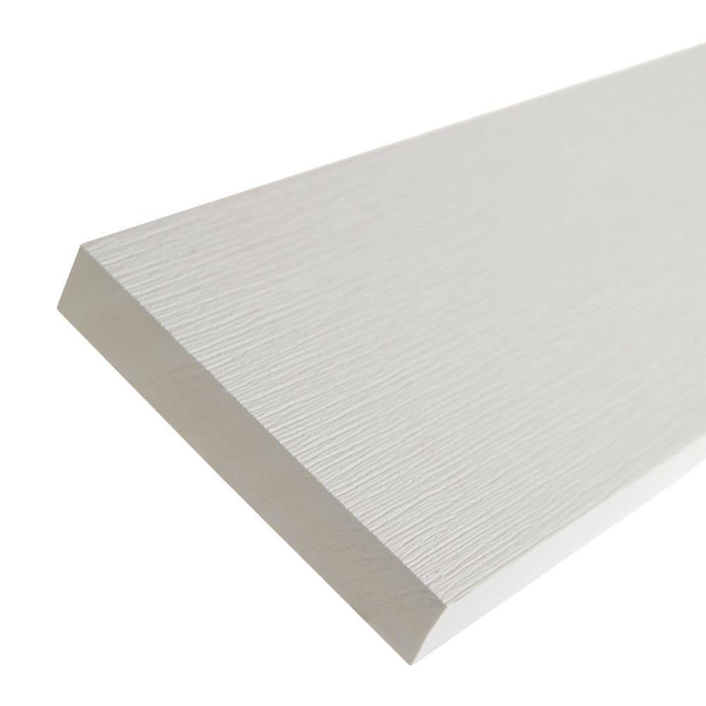 1 in. x 5.5 in. x 8 ft. White PVC Composite