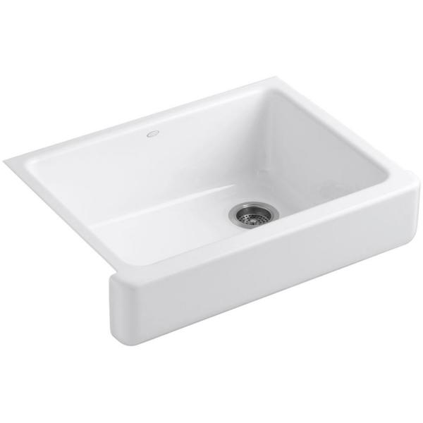 Whitehaven Farmhouse Apron Front Self-Trimming Cast Iron 30 in. Single Bowl Kitchen Sink in White