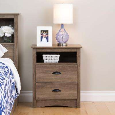 Salt Spring 2-Drawer Drifted Gray Nightstand