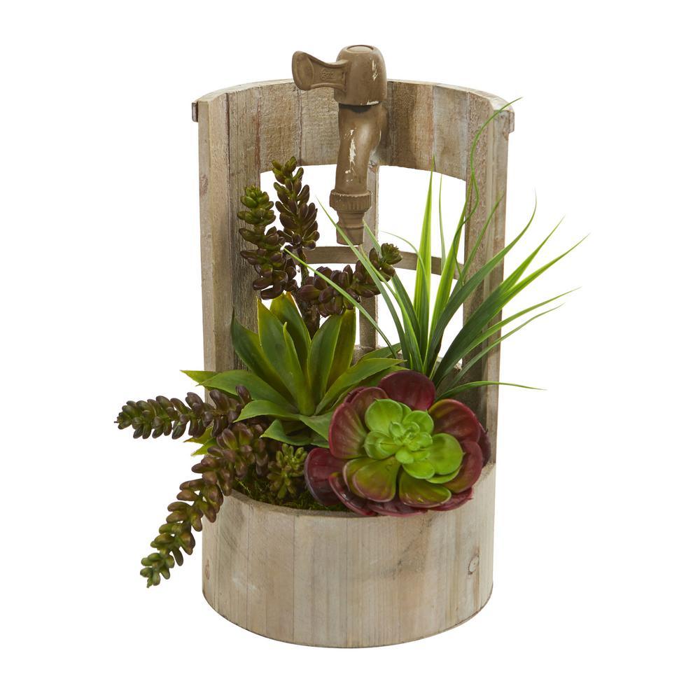 Indoor Succulent Garden Artificial Plant in Decorative Planter