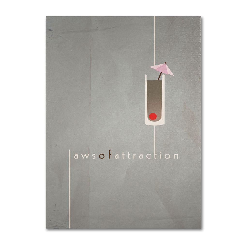 Trademark Fine Art 14 in. x 19 in. Laws of Attraction Canvas Art