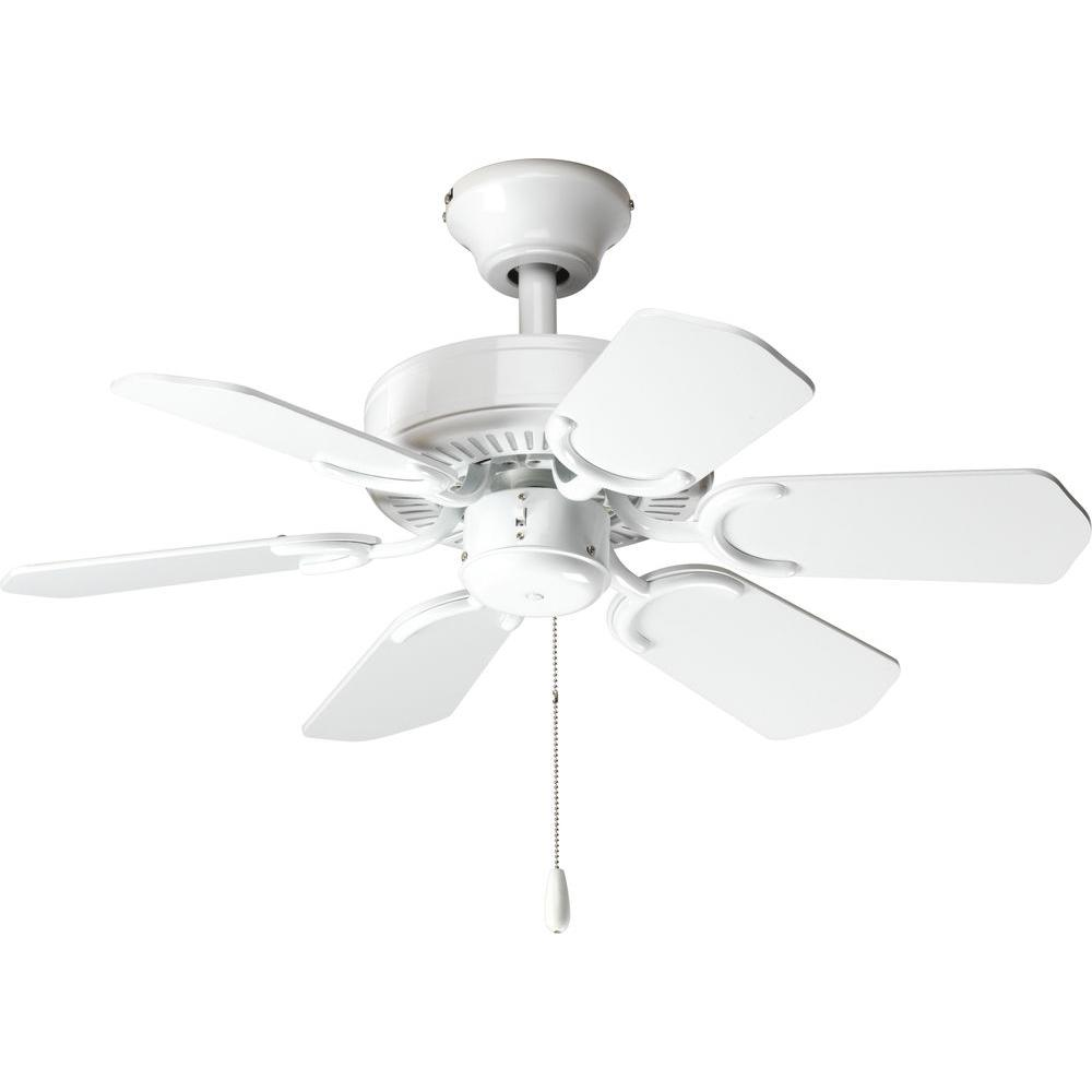 Progress Lighting AirPro 30 In. White Ceiling Fan-DISCONTINUED