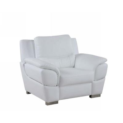 Charlie Chic White Leather Chair