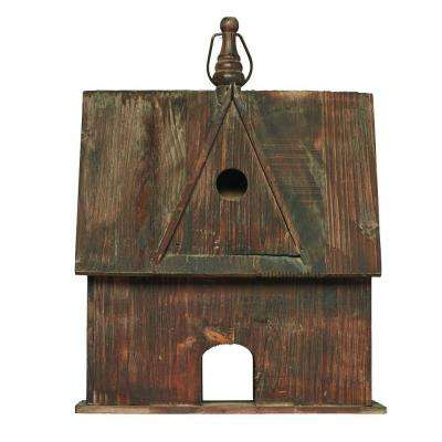 20 in. Rustic Wood Birdhouse