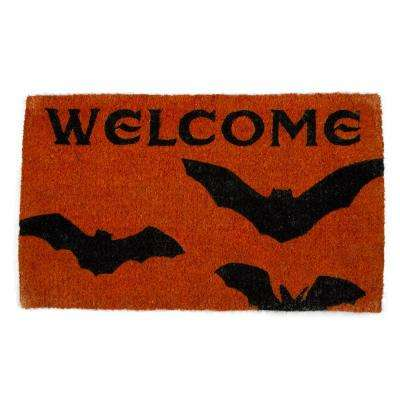 Batty Welcome Home 18 in. x 30 in. Coir Door Mat