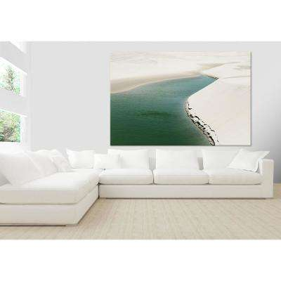 """48 in. x 72 in. """"Pale Dunes"""" by Daniel Stanford Printed Framed Canvas Wall Art"""