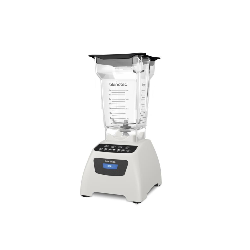 Classic 575 Blender Polar White with FourSide Commercial grade power and incredible versatility combine to bring you the Blendtec Classic 575. The ultimate all-in-one appliance. Preprogrammed cycles make it easier than ever to create smoothies, salsas, hot soups, and more. Color: White.