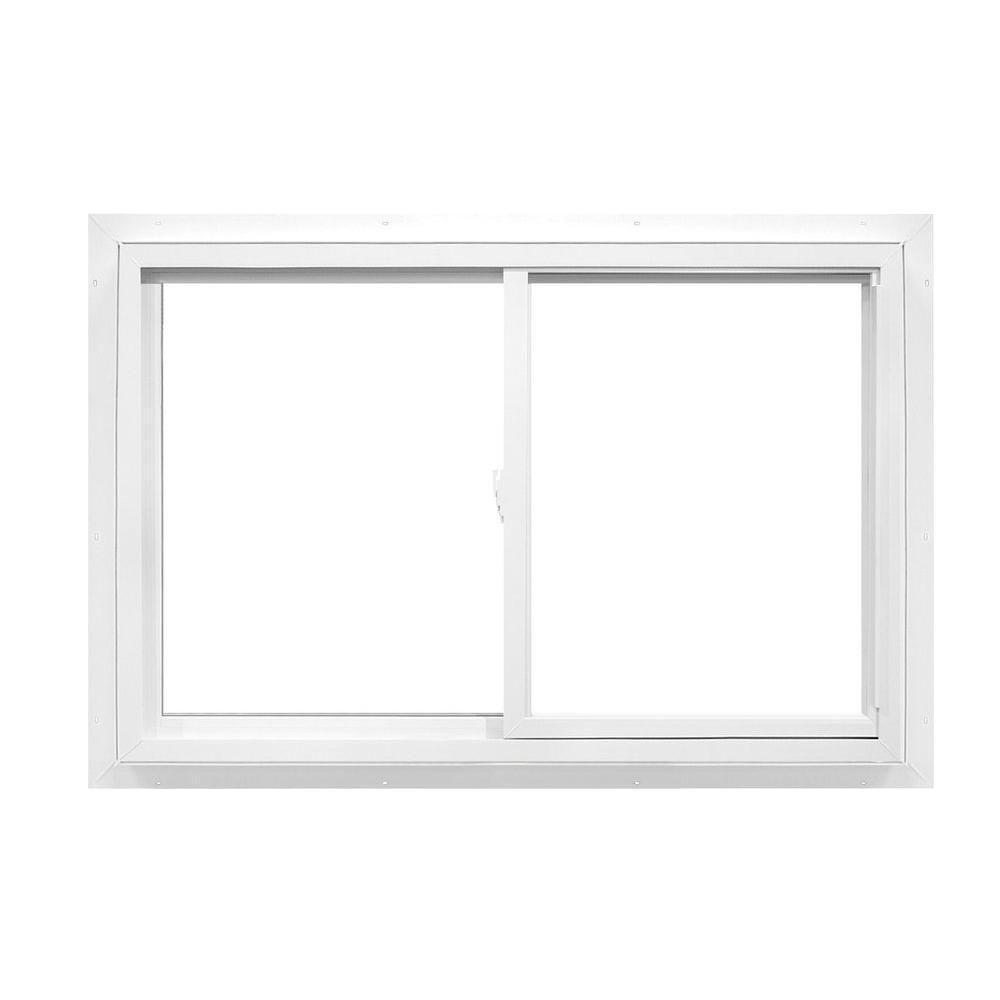 American Craftsman 48 in. x 47 in. 2392 Series Slider Reversible Vinyl  Window -