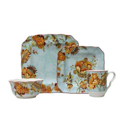 Gabrielle Blue 16-Piece Dinnerware Set