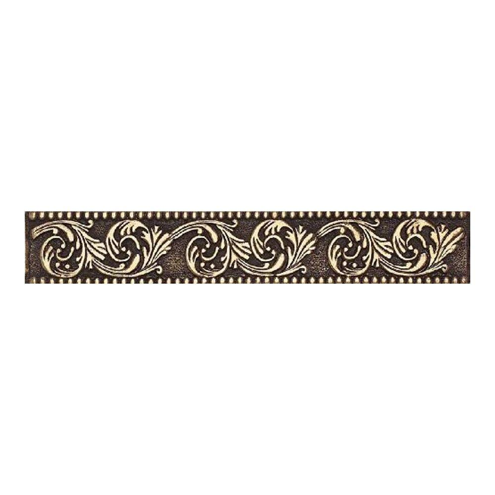 Daltile Massalia Bullion 1 in. x 6 in. Metal Frieze Liner Wall Tile-DISCONTINUED