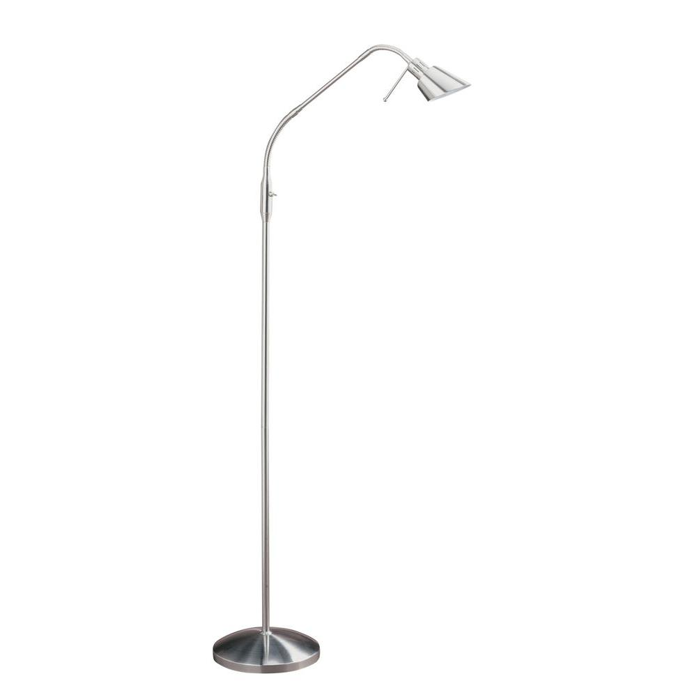 Cassiopeia 63 in. Satin Nickel Floor Lamp