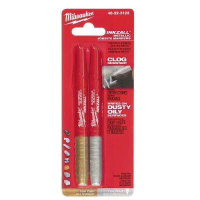 INKZALL SilverGold/Fine Point Markers (2-Pack)