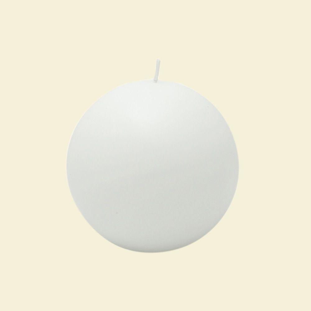 Zest Candle 4 in. White Citronella Ball Candles (Box of 2)