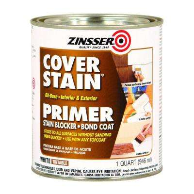 1-qt. White Cover Stain Oil-Based Interior/Exterior Primer and Sealer (Case of 6)