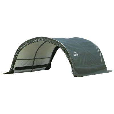 8 ft. W x 10 ft. D x 5 ft. H Small Round Livestock Portable Shelter with Waterproof UV Protecting Fabric