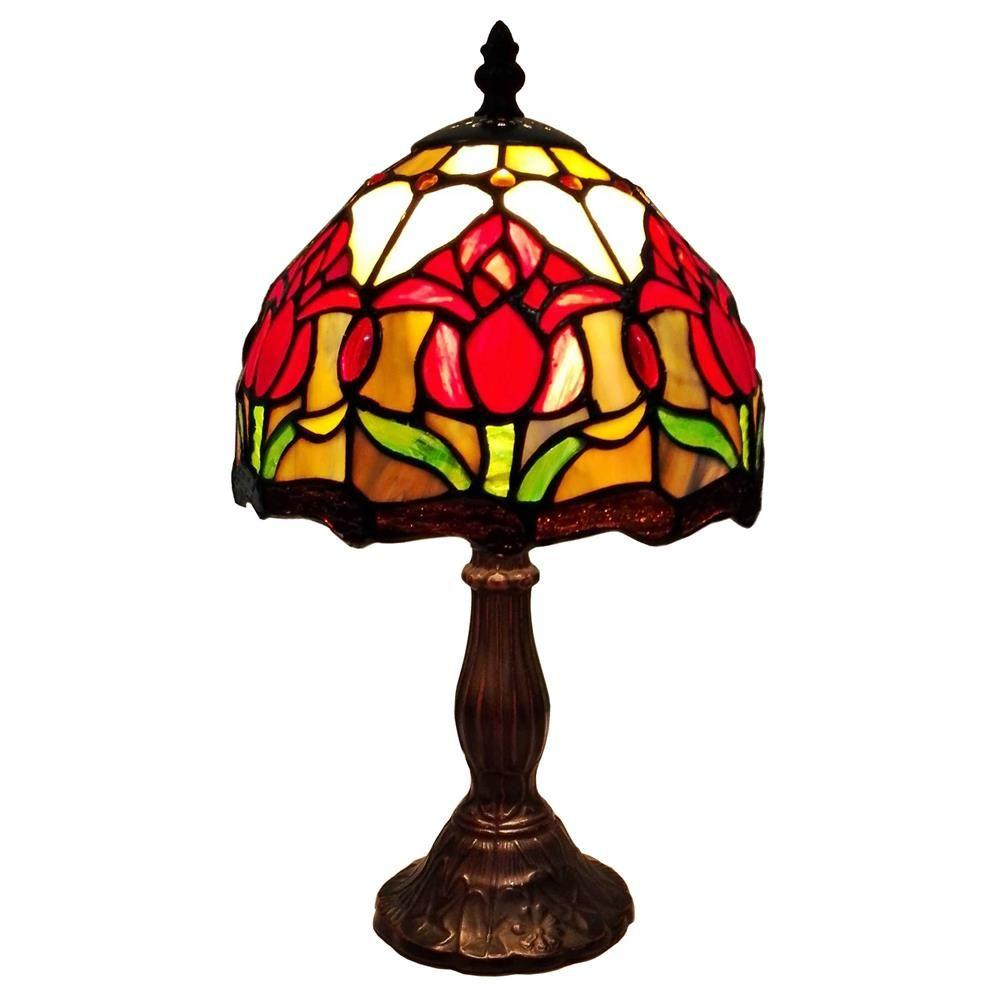 14 in. Tiffany Style Tulips Table Lamp