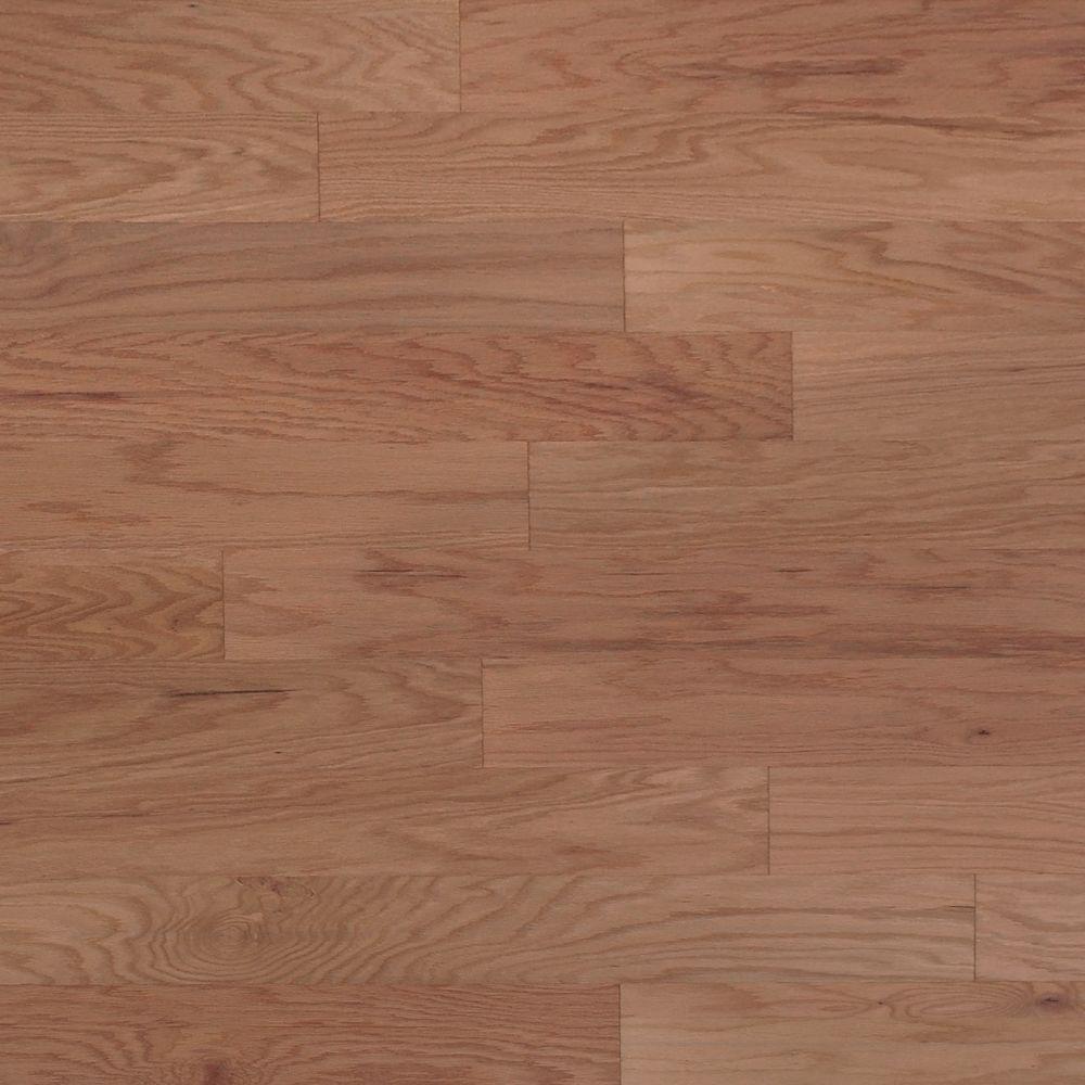 Take Home Sample - Scraped Oak Flint Engineered Click Hardwood Flooring - 5 in. x 7 in.