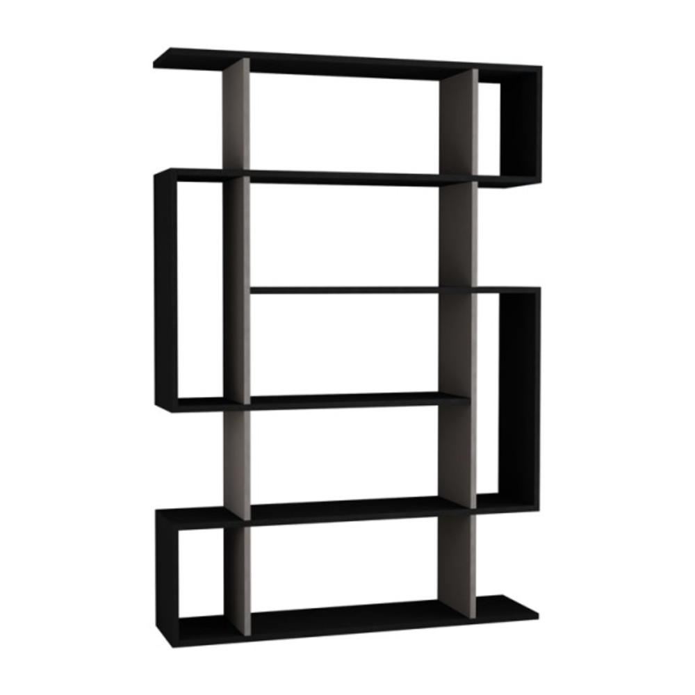 Ada home decor blair anthracite and light mocha mid century modern bookcase dcrb2077 the home depot