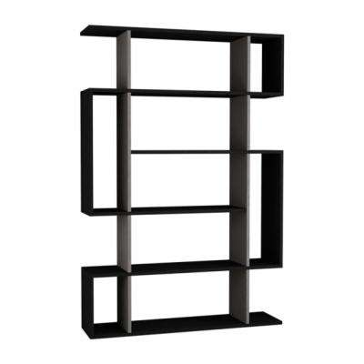 Blair Anthracite and Light Mocha Mid-Century Modern Bookcase