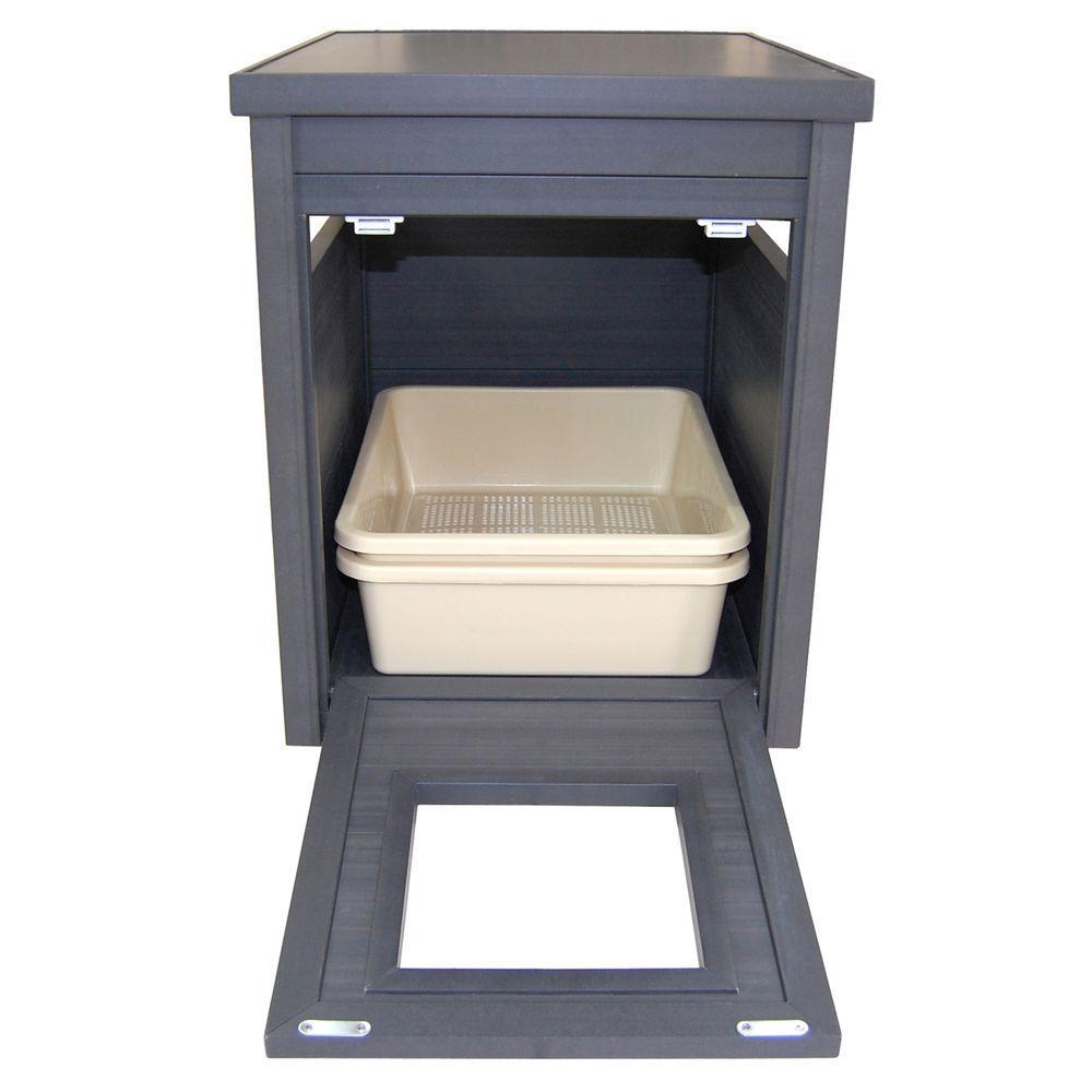 New Age Pet Ecoflex Litter Box Cover End Table Espresso