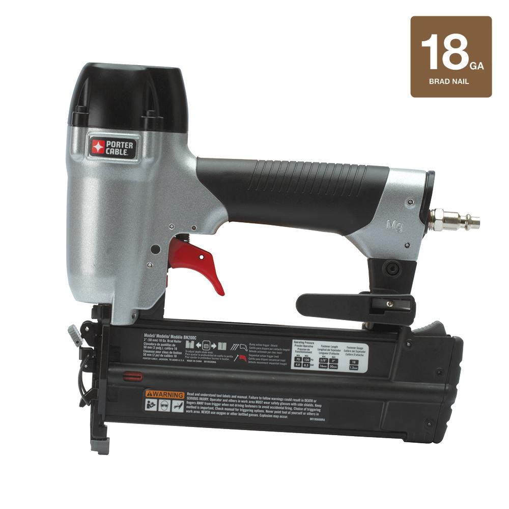 Porter-Cable 18-Gauge Pneumatic Brad Nailer Kit-BN200C - The Home Depot