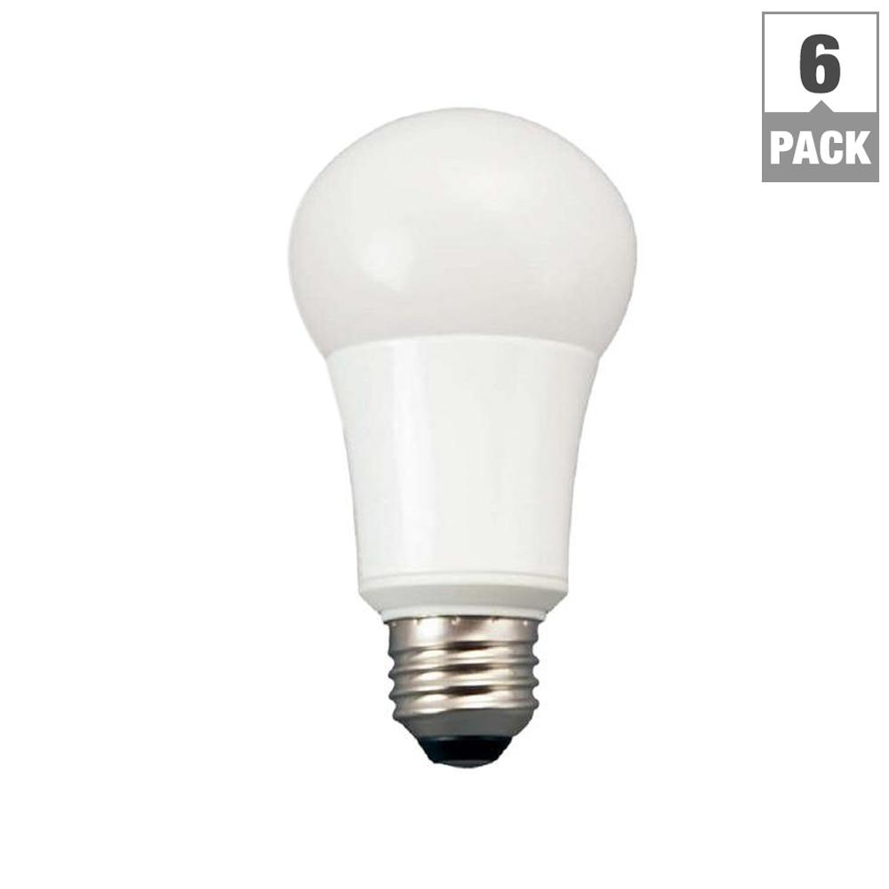 TCP 60W Equivalent Soft White A19 Non Dimmable LED Light Bulb (6-Pack)  sc 1 st  Home Depot & TCP 60W Equivalent Soft White A19 Non Dimmable LED Light Bulb (6 ...