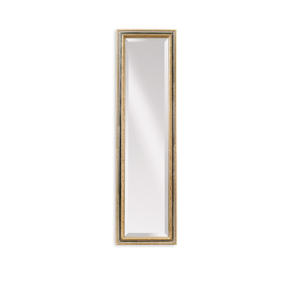 BASSETT MIRROR COMPANY Regis Cheval Decorative Mirror Formalize any room with our chivalrous Regis cheval mirror. Beveled glass, a gold leaf finish and laurel wreath detail showcase your royal sense of style. A sophisticated style is the statement that this mirror makes.
