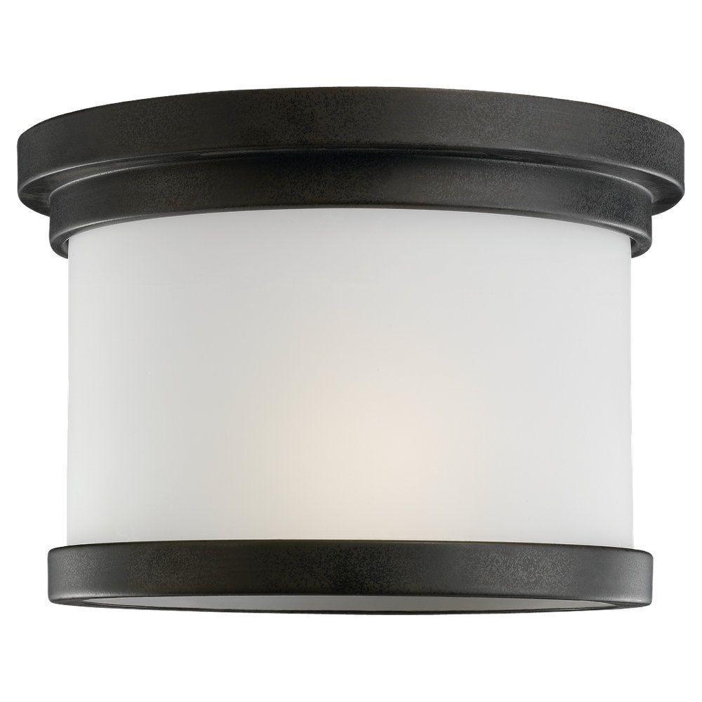 Sea Gull Lighting Winnetka 1-Light Forged Iron Outdoor Ceiling Fixture