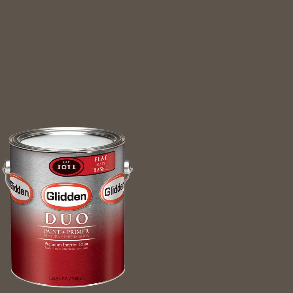 Glidden DUO Martha Stewart Living 1-gal. #MSL245-01F Molasses Flat Interior Paint with Primer - DISCONTINUED