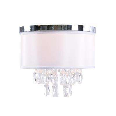Ophelia 2-Light Chrome Flush Mount