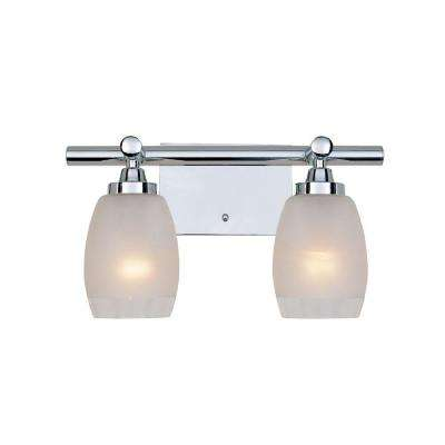 Astoria 2-Light Chrome Interior Incandescent Bath Vanity Light