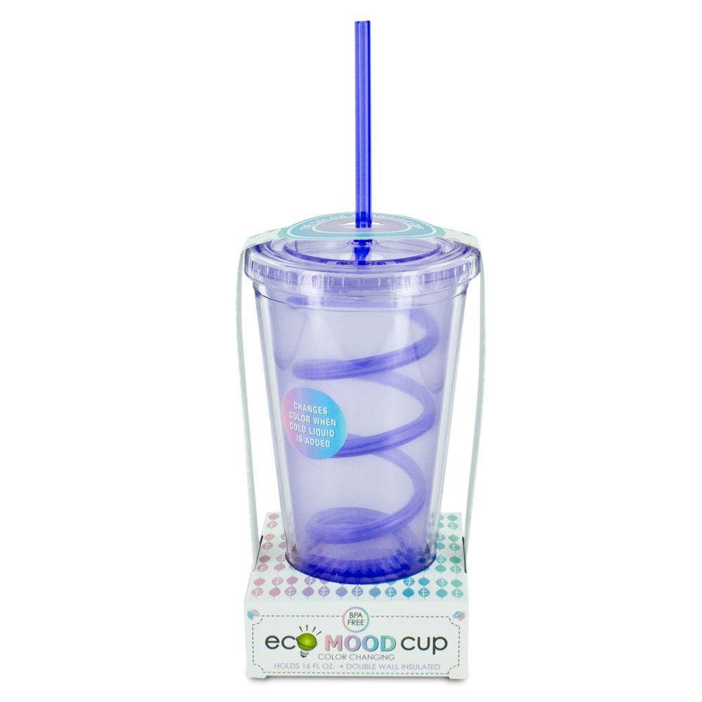 SmartPlanet ECO Mood Cup Color Changing 16 oz. Cold Cup in Purple-DISCONTINUED