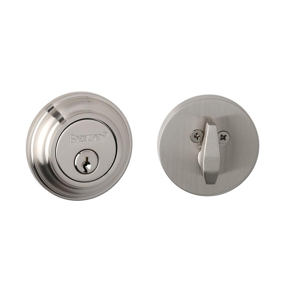 Solid Zinc Polished Nickel Single Cylinder Deadbolt