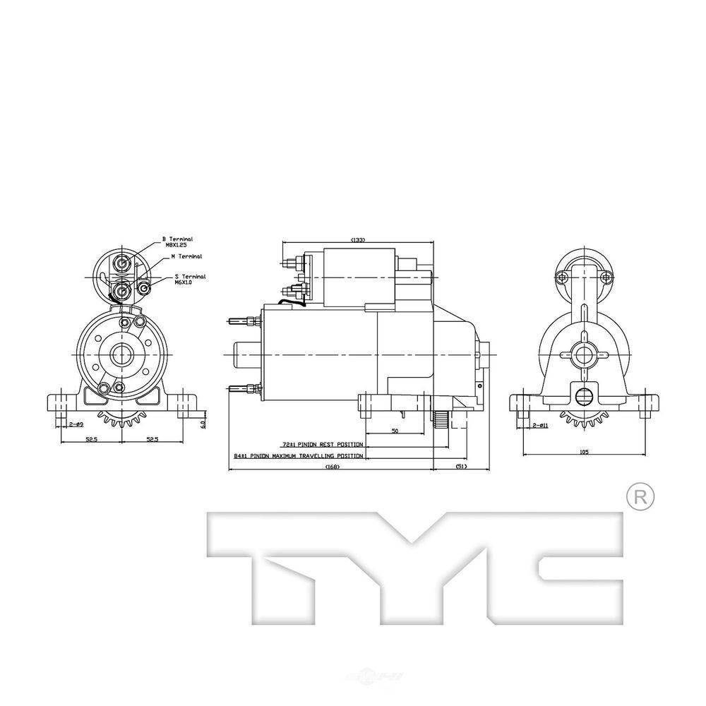 Tyc Starter Motor 1995 2000 Ford Contour 1 03263 The Home Depot