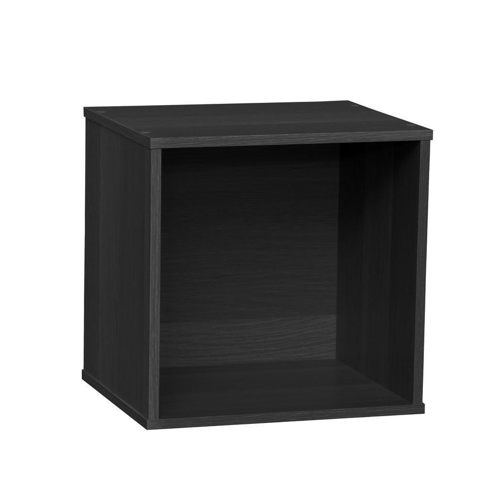BAKU Black Modular Wood Cube Box