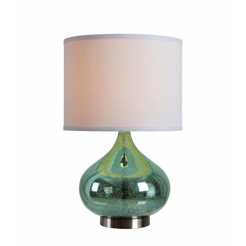 Kenroy Home Annalie 18 5 In Green Accent Lamp With