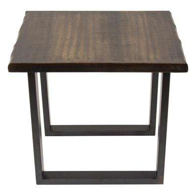 Regent Faux Live Edge Brown Side Table