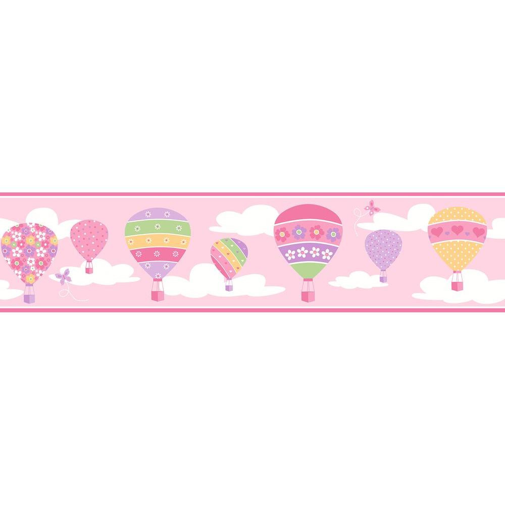 Brewster balloons pink wallpaper border 2679 50129 the home depot brewster balloons pink wallpaper border thecheapjerseys Gallery