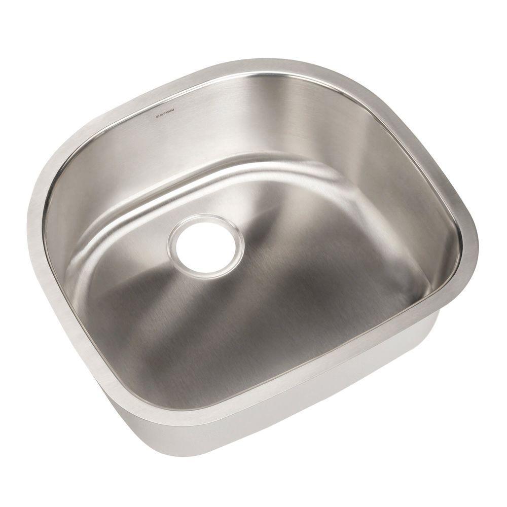 Eston Series Undermount Stainless Steel 23 in. Single Bowl Kitchen Sink