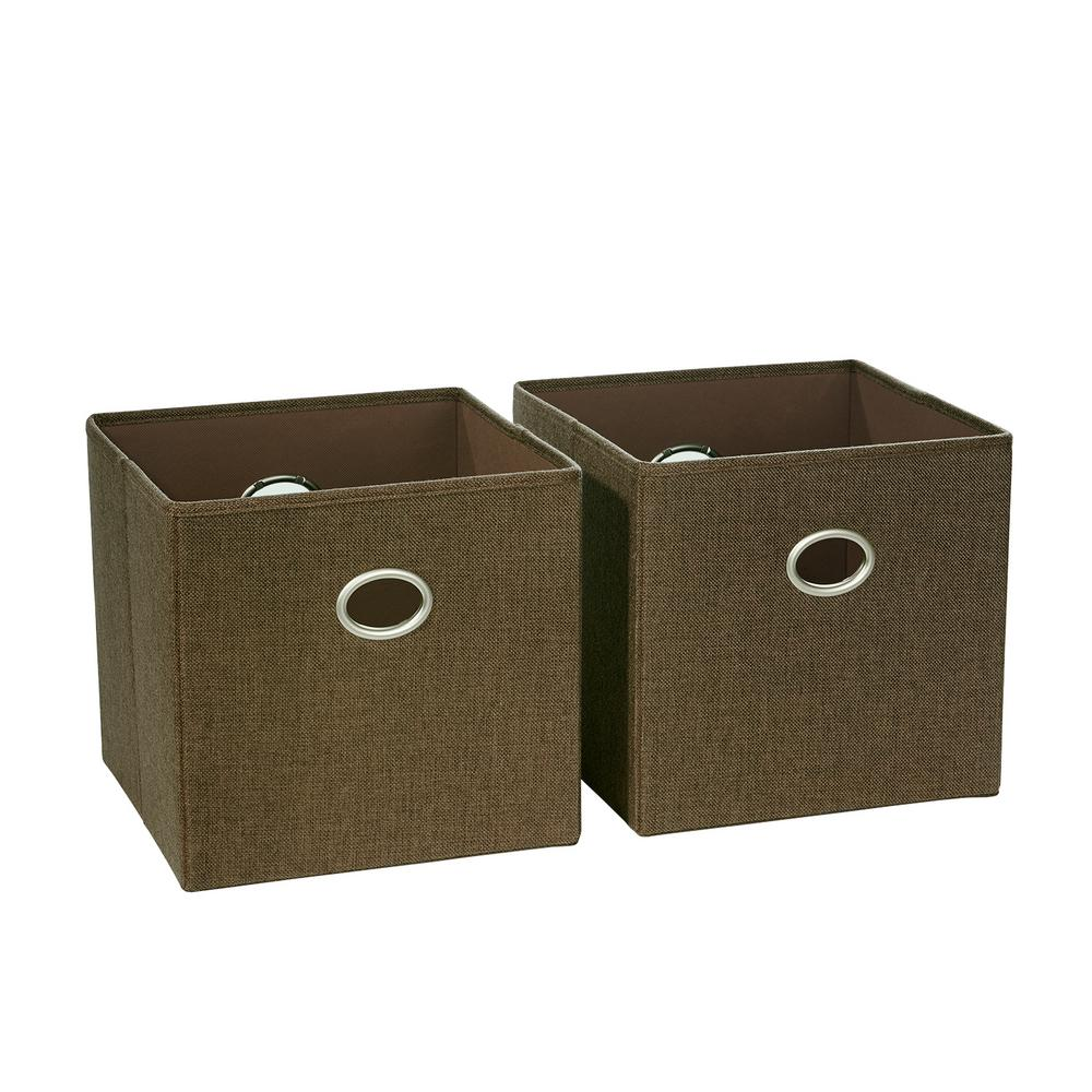 Brown Folding Storage Bin (2