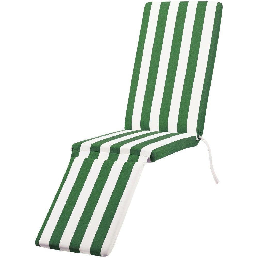 Sunbrella Maxim Emerald Outdoor Chaise Lounge Cushion