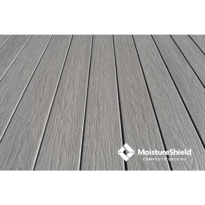 Vision 1 in. x 5.4 in. x 12 ft. CoolDeck Cathedral Stone Composite Groove Decking Board (10-pack)