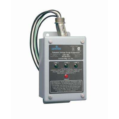 120/208-Volt 3-Phase WYE and 220-Volt 3-Phase Delt Amp Surge Protective Panel and Enhanced Noise Filtering Module, Gray
