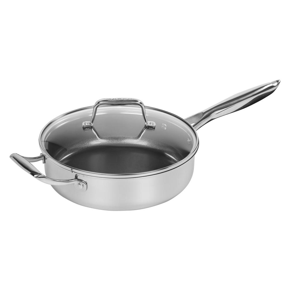 Durable Tri Ply Stainless Steel W Aluminum Saute Pan 3qt