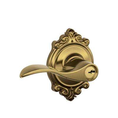 Brookshire Collection Antique Brass Accent Keyed Entry Lever