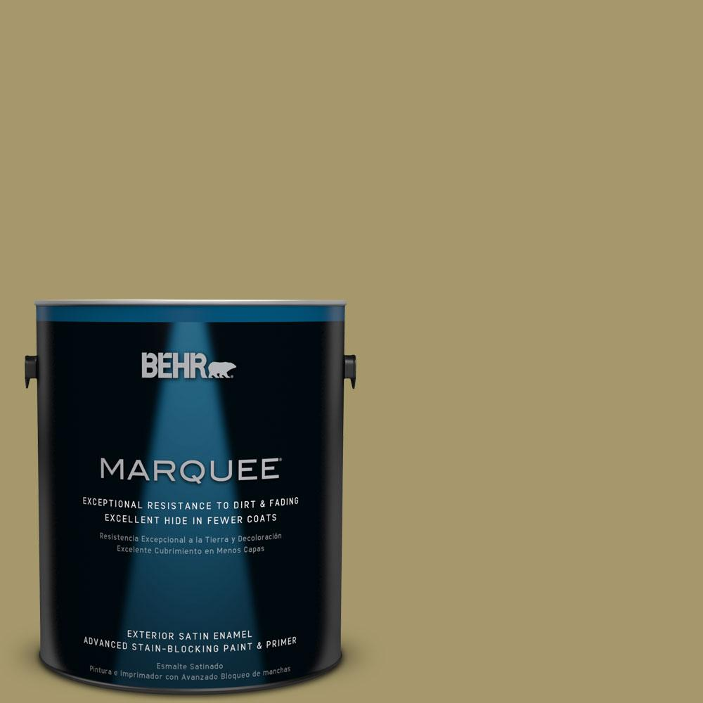 BEHR MARQUEE 1-gal. #PPU8-5 Eco Green Satin Enamel Exterior Paint
